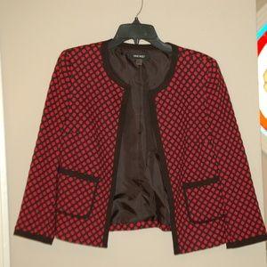 Nine West Red/Black Blazer